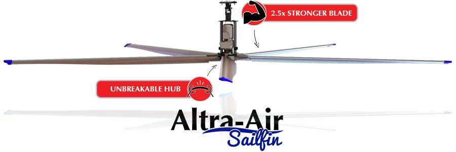 Altra Air Sail Fin HVLS Ceiling Fan