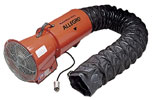 "Allegro 8"" Explosion Proof Confined Space Axial Blower w/Statically Conductive Ducting (1/3 Hp, AC, 890 CFM @ Outlet)"
