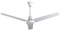 "VES Environmental brand #INDB60MR4LP White Heavy Duty Industrial and Agricultural Variable Speed Ceiling Fan (60"" Reversible, 46,000 CFM, 5 Year Wty, 120V)"