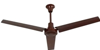"VES Model #INDB564LB Brown Heavy Duty Industrial Ceiling Fan High Output Variable Speed (56"" Reversible, 28,000 CFM, 5 Year Warranty, 120V)"