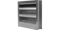 "Soler & Palau USA brand 4"" Wide (Fixed Blade) Model GFL Galvanized Steel Fixed Louver (18"" to 48"")"