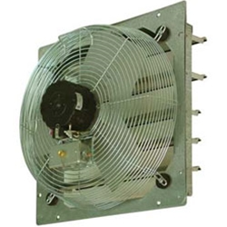 "TPI Corporation brand Model CE (Two or Three Speed) Shutter Mount Direct Drive Wall Exhaust Fan CFM Range: 1325 - 7900 (Sizes 10"" thru 30"")"