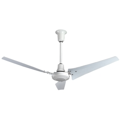 "AirRow Model #L-660 White Industrial Variable Speed Ceiling Fan (60"" Downflow, 46,000 CFM, 10 Yr Warranty, 120V)"