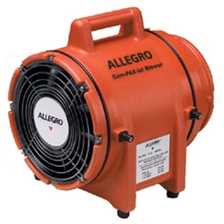 "Allegro 8"" Plastic COM-PAX-IAL Blower (1/3 Hp, AC, 831 CFM @ Outlet)"