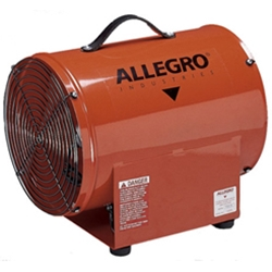 "12"" Allegro Electric Powered Confined Space Axial Blower(1/3 Hp, 3.0 Amp, 1763 CFM @ Outlet)"