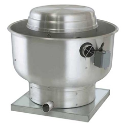 "Canarm Ltd. brand Model SDUB Direct Drive Centrifugal Up Blast Roof or Sidewall Mount Exhaust Fan Restaurant & Gen. Applic. CFM Range: 340-3,100 @ 1/2"" S.P."