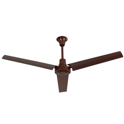 "VES Environmental brand #INDB604LB Brown Heavy Duty Industrial Variable Speed Ceiling Fan (60"" Reversible, 46,000 CFM, 5 Year Warranty, 120V)"