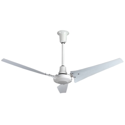 "VES Environmental brand #INDC60ODP White 3-Speed Energy Star Approved Heavy Duty Industrial Outdoor Ceiling Fan (60"" Downflow, 46,000 CFM, 5 Yr Wty, 120V)"