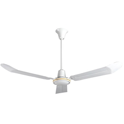 "VES Model #INDA56P White Heavy Duty Commercial Variable Speed Ceiling Fan (56"" Downflow , 28,000 CFM, 5 Year Warranty, 120V, with Cord & Plug)"