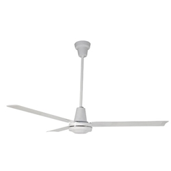 "Leading Edge Model #56001 White Industrial Variable Speed Ceiling Fan (56"" Downflow, 27,500 CFM, 5 Yr Warranty, 120V)"