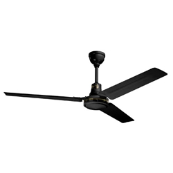 "Northwest Envirofan Model #160C-7BLK Black Heavy Duty Industrial Variable Speed Ceiling Fan (56"" Reversible, 34,500 CFM, 5 Yr Warranty, 120V)"