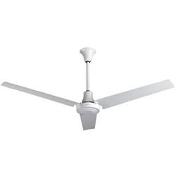 "VES Model #INDB604L White Heavy Duty Industrial Ceiling Fan High Output Variable Speed (60"" Reversible, 46,000 CFM, 5 Year Warranty, 120V)"