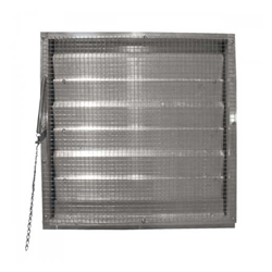 "Canarm Ltd. brand Fresh Air Drainable Manual Chain Operated (Adjustable) Wall Louver (12"" to 60"")"