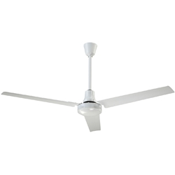 "Canarm Ltd. Model #CP56 HPWP White Heavy Duty Industrial and Agricultural Variable Speed Ceiling Fan (56"" Reversible, 27,500 CFM, 3 Yr Warranty, 120V)"