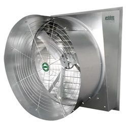 "J&D Manufacturing brand Typhoon Slant Industrial Wall Exhaust Fan  (1 Speed, 2- Speed and Variable) CFM Range: 4,900 - 23,700 (Sizes 24"" thru 50"")"