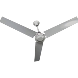 "TPI Corporation Model #IHR-48 White Industrial Variable Speed Ceiling Fan (48"" Downflow, 5,000 CFM, 3 Yr Warranty, 120V)"