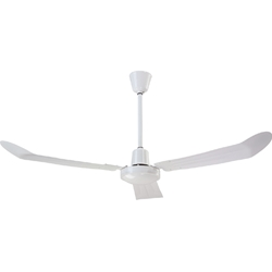 "Canarm Ltd. Model #CP56F&R White Commercial Variable Ceiling Fan (56"" Reversible, 20,500 CFM, 5 Yr Warranty, 120V)"